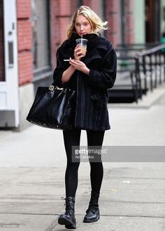 Elsa Hosk is seen in Soho on March 12, 2014 in New York City.