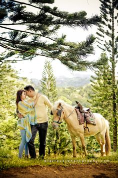 TAGAYTAY CITY  JEFF AND MARJ | Engagement Session Prenup Ideas Prenup Location: TagayTay City Tagaytay, Engagement Shoots, Horses, City, Animals, Ideas, Engagement Photos, Animales, Animaux