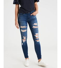 9d620feb4f3 American Eagle Outfitters AE The Dream Jean Hi-Rise Jegging     I would wear  this with any top I have. Ripped JeggingsRipped Jeans OutfitHigh ...