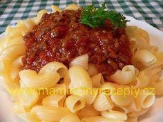 Masovo-rajčatová omáčka bez lepku Macaroni And Cheese, Ethnic Recipes, Food, Mac And Cheese, Essen, Meals, Yemek, Eten