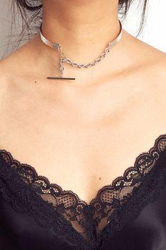 Rue Gembon Silver Trinity Chain Choker Fashion Jewelry