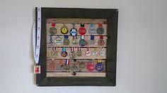 A medal hanger that