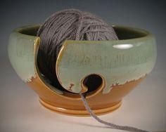 Yarn / Knitting  Bowl by Seiz Pottery