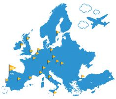 European Best Destinations 2013 - Map