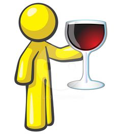 Design Mascot holding large glass of red wine. Attention given to vibrance and attractiveness so as to present the product…