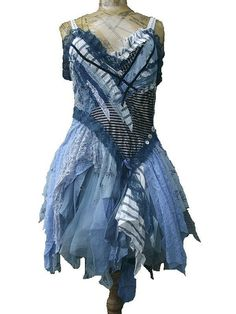 Rerved for Lisa...................Azure dress by NaturallyBohemian