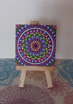 Mandala on canvas with 7 cm frame by Valeria Campagna