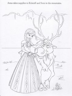 FROZEN Anna Sven Coloing Page