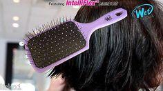 "Luxor Pro -THE WET BRUSH ""paddle edition "" DETANGLING HAIR BRUSH _ purple"