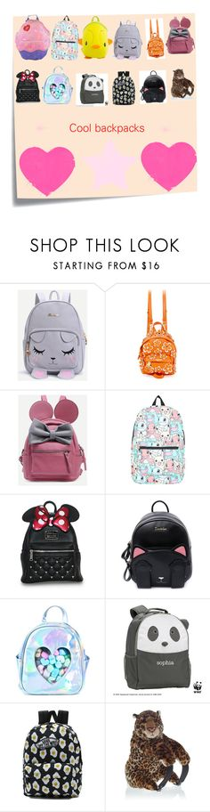 """""""Backpack backpack"""" by karastar1 ❤ liked on Polyvore featuring Post-It, Moschino, Nintendo, Sugarbaby, PBteen, Vans, cool, nice, backpack and polyvorefashion"""