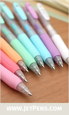 The Zebra Sarasa Milk Gel Pens contain pretty pastel ink that writes well on both light and dark papers, as well as glossy photo paper!