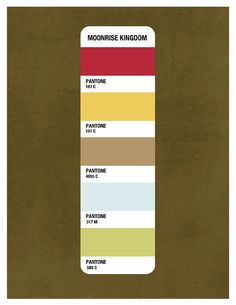 Moonrise Kingdom Pantone Print by BethMathewsDesign on Etsy, $12.00