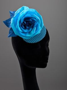 blue silk rose