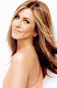 Dimensional dark blonde with light blode.  Jennifer Aniston will forever be a haircolor icon.