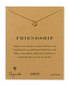 "Friendship Anchor Necklace, 18"" $58. @Stefani Hibell"