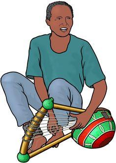 アフリカの弦楽器:ニャティティの演奏 / African instrument : nyatiti