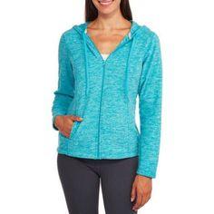 Athletics Works Women's Printed Microfleece Hoodie, Size: Medium, Blue