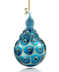 Holiday Lane Christmas Ornament, Peacock - Macy's