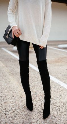 #winter #fashion / black & white