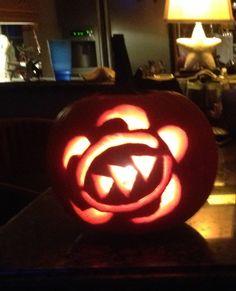 My Sea turtle / honu pumpkin carving :)