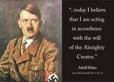 True. But then again Himmler came up with his own religion.... Good thing that one didn't stick.