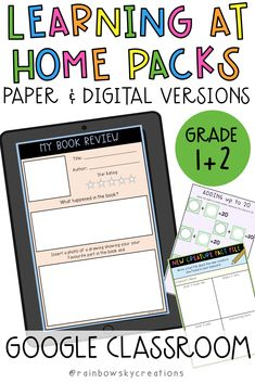 Learning at Home Pack: Year Digital & Printable Version (Distance Learning) Subtraction Activities, Spelling Activities, Classroom Activities, Numeracy, Classroom Ideas, Literacy Stations, Literacy Centers, Learning Resources, Teaching Ideas
