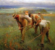 Sir George Clausen (English, 1852 - 1944) 'Sons of the Land'