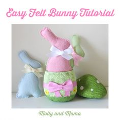 free bunny pattern template Felt Bunny, Bunny Plush, Easter Bunny, Diy Projects Easter, Easter Crafts, Felt Projects, Easter Ideas, Easter Decor, Easter Gift