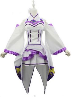Relaxcos Re:Life In A Different World From Zero Emilia Dress Outfits Cosplay * Visit the image link more details.