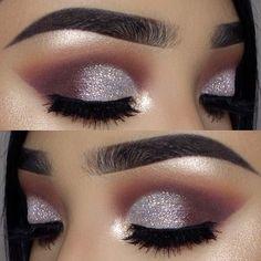 23 Glitzy New Year's Eve Makeup Ideas: #18. GLITZ AND GLAMOUR EYE MAKEUP; #eyemakeup; #makeup
