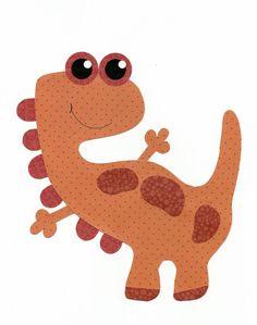 Red Dino Nursery Artwork Print // Baby Room by 3000yardsofthread, $14.00