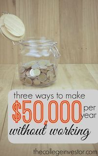 What would you do if you didn't have to work 40 hours per week? If you frontload your life and build passive income now that could become a reality. Here are three ideas to get you started.