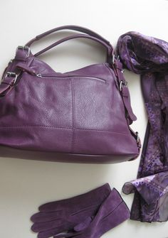 Purple Leather Handbag