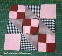 Quilt Square Patterns, Patchwork Quilt Patterns, Pattern Blocks, Square Quilt, Quilting Projects, Quilting Designs, Sewing Projects, Patch Quilt, Quilt Blocks