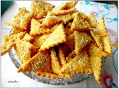 Slané syrovo-šunkové krekry (fotorecept) - recept   Varecha.sk Snack Recipes, Dessert Recipes, Cooking Recipes, Snacks, Apple Pie, Pizza, Food And Drink, Appetizers, Chips