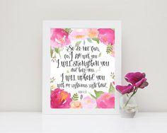 Baby Shower Girl Verses ~ Jeremiah 31 3 floral nursery print; bible verse wall decor girl