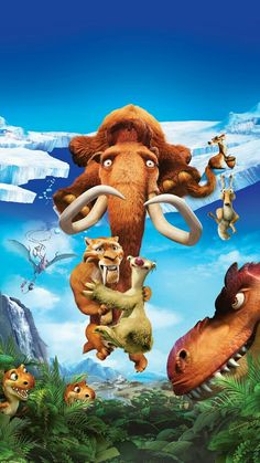 """Wallpaper for """"Ice Age: Dawn of the Dinosaurs"""" Movie Wallpapers, Cute Cartoon Wallpapers, Arte Disney, Disney Art, Ice Age Funny, Ice Age Movies, Cartoon Caracters, Disney Phone Wallpaper, Kino Film"""