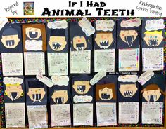 Writing Activity & Craft for Book, What If You Had Animal Teeth? by Sandra Markle (from Mom to 2 Posh Lil Divas)