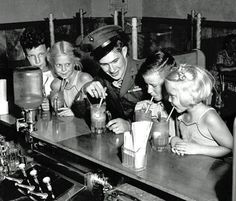 there was a malt shop 2 blocks from our house....you know we spent a lot of time there! I loved cherry cokes....