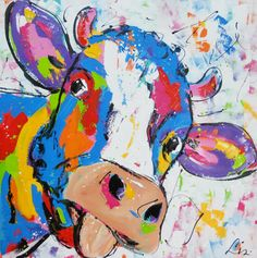 Koe met blauw - Cow with blue