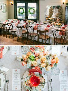 Bridal Shower Luncheon Ideas | Peach and Mint Bridesmaid Luncheon | Wedding Chicks