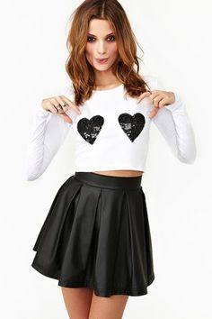 Nasty Gal Double Love Tee