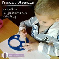 Tracing Stencils Montessori