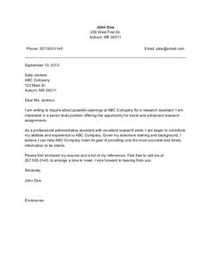 cover letter for job application for administrative assistant google search - Cover Letter For A Resume Example