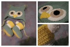 crochet baby owl beanie and booties