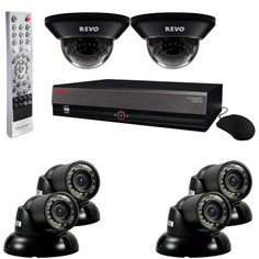 Special Offers - Revo R84D2GT4G-1T 8-Channel 1TB DVR Surveillance System with six 700TVL 100-Feet Night Vision Cameras (Black) - In stock & Free Shipping. You can save more money! Check It (June 11 2016 at 01:33PM) >> http://wpcamera.net/revo-r84d2gt4g-1t-8-channel-1tb-dvr-surveillance-system-with-six-700tvl-100-feet-night-vision-cameras-black/