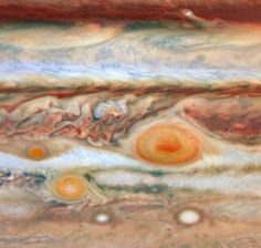 Jupiter Breaks Out in SpotsCredit: NASA, ESA, and M. Wong and I. de Pater (University of California, Berkeley)A third red spot has appeared alongside the Great Red Spot and Red Spot Jr. in the turbulent Jovian atmosphere. The visible-light images were taken on May 9 and 10 with Hubble's Wide Field and Planetary Camera 2.