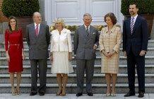 Encuntro entre los Reyes de Espana y los Principes de Asturias con el Principe de Gales y la Duquesa de Cornwall durante la visita de estos ultimos a Madrid