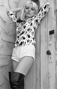 Near a wooden door. is listed (or ranked) 17 on the list The Hottest Deborah Harry Photos