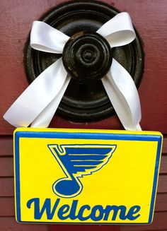 Hand-Painted St. Louis Blues Welcome Sign